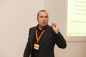 Workshopleiter Guido Kowalski (Grimme-Institut)  (c) DW/M. Magunia