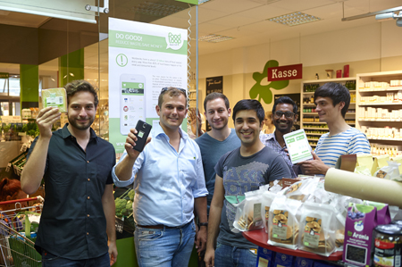 Das Team von FoodLoop in einem der Testmärkte (c) FoodLoop GmbH